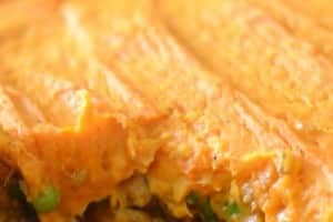 Turkey and Sweet Potato Shepherds Pie  | Real Housemoms | This is the perfect comfort food for cold nights
