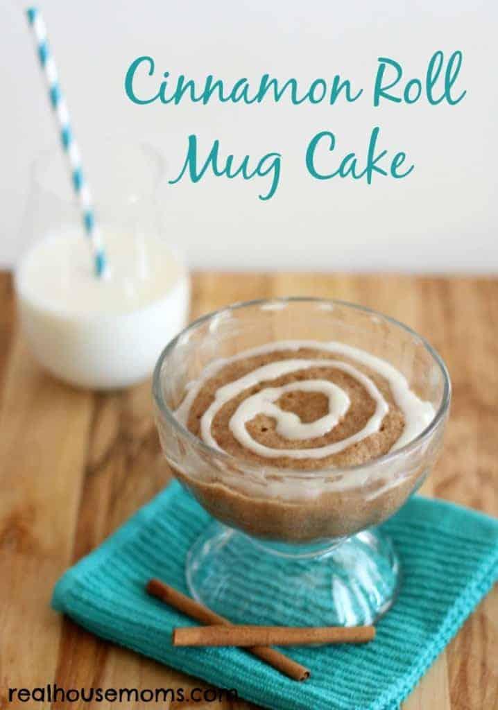 Cinnamon Roll Mug Cake