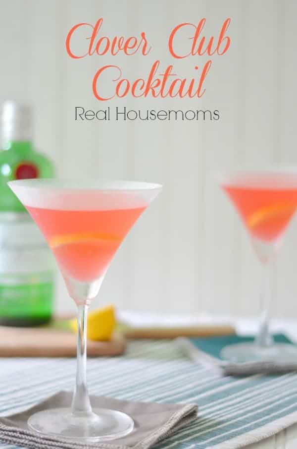 Clover Club Cocktail_Real Housemoms