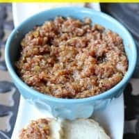 crock pot bacon jam in a bowl