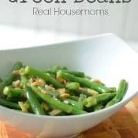 Garlic Lime and Almond Green Beans
