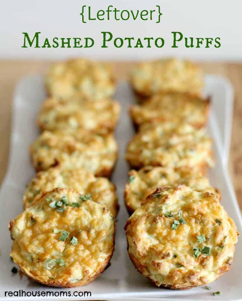 mashed potato puffs on a serving platter