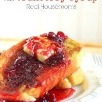 Orange French Toast with Cranberry Syrup_Real Housemoms