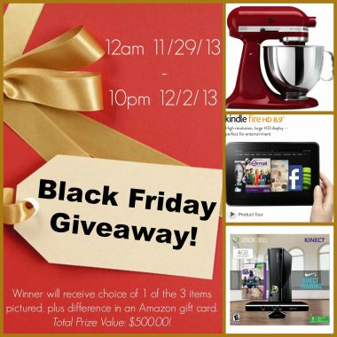 black friday giveaway collage