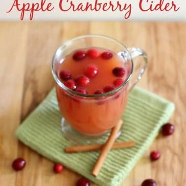 {Crock Pot} Apple Cranberry Cider