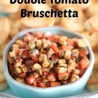 double tomato bruschetta in a bowl