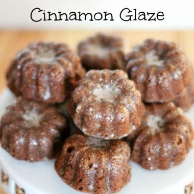 small gingerbread bundt cakes with cinnamon glaze