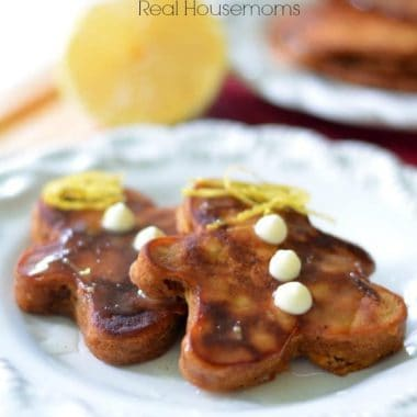 Gingerbread Pancakes with Lemon Syrup