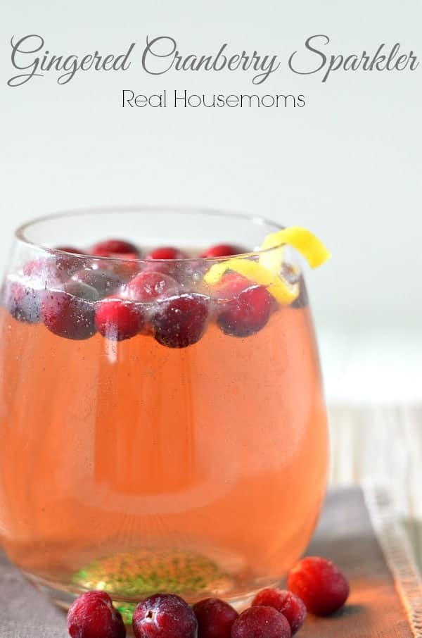 Gingered Cranberry Sparkler_Real Housemoms