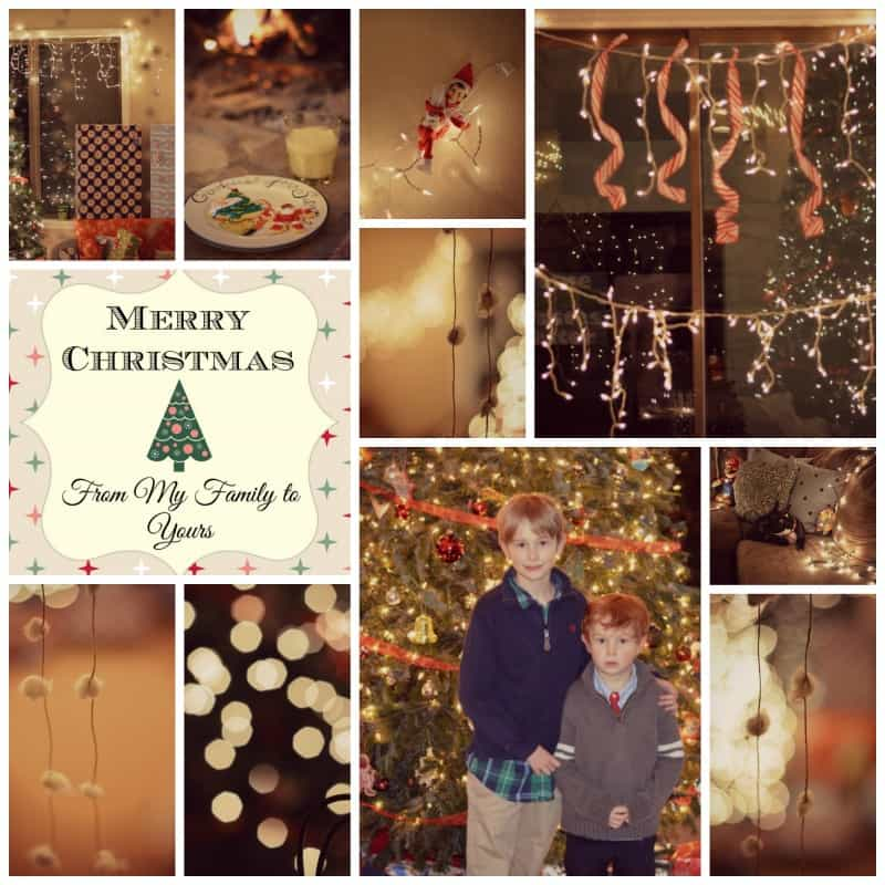 collage of various christmas home decor