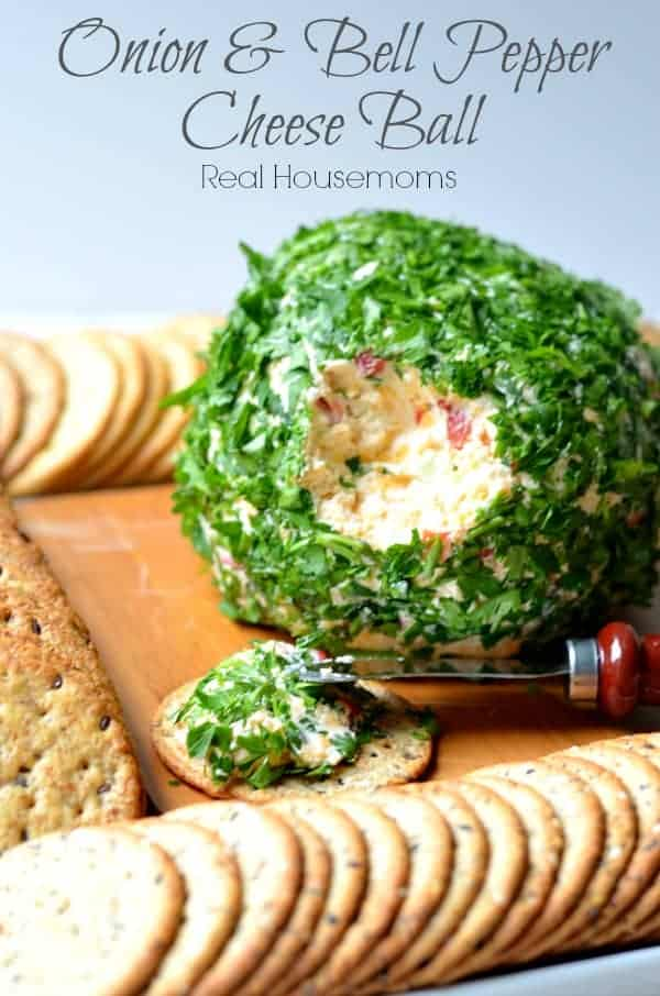 Onion Bell Pepper Cheese ball | Real Housemoms