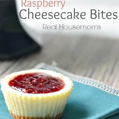 Raspberry Cheesecake Bites