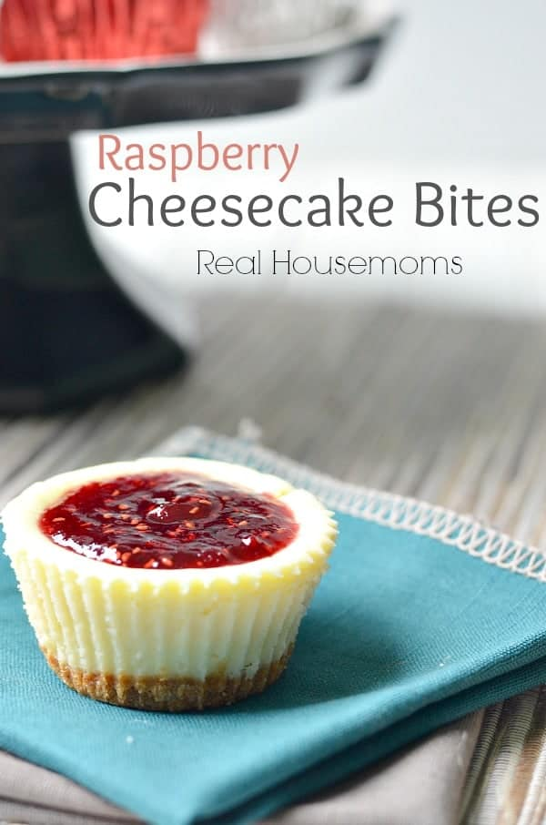 These Raspberry Cheesecake Bites are perfect for your next party. They're a delicious, make-ahead dessert that goes fast every time you serve them up!