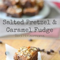 Salted Pretzel Caramel Fudge_Real Housemoms