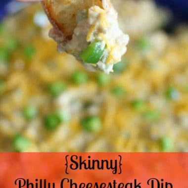 {Skinny} Philly Cheesesteak Dip