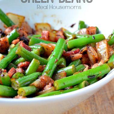 Bacon & Onion Green Beans