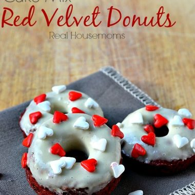Cake Mix Red Velvet Donuts