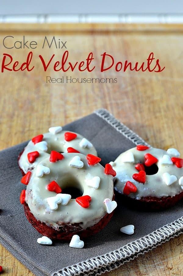 Cake Mix Red Velvet Donuts