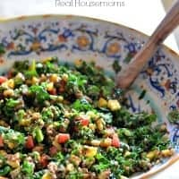 Kale Salad with Papaya Vinaigrette_Real Housemoms