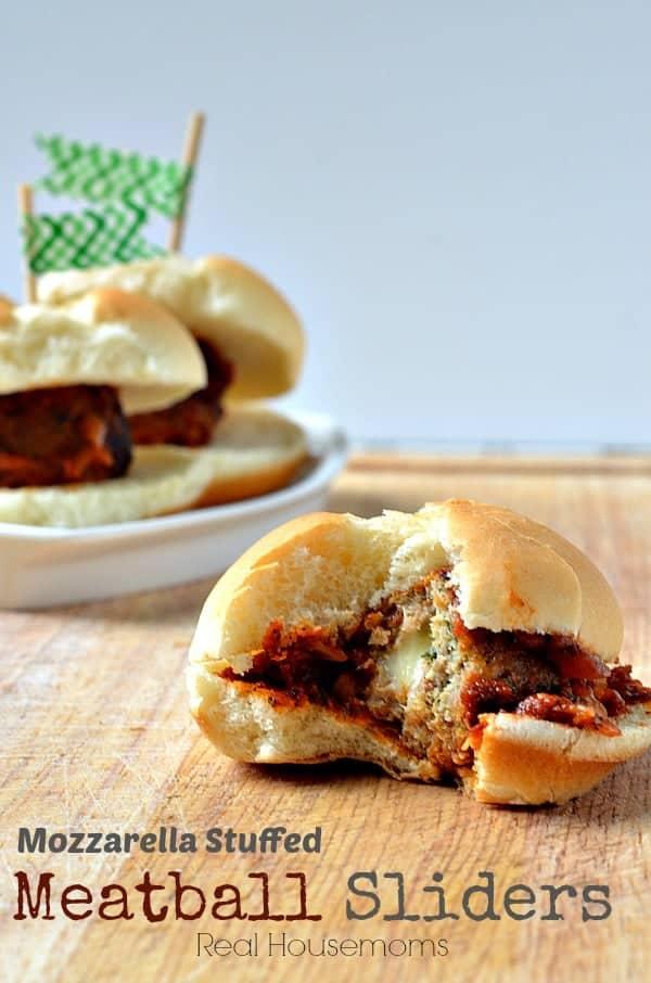 Mozzarella Stuffed Meatball Sliders - Real Housemoms