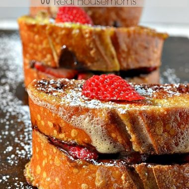 Nutella & Strawberry Stuffed French Toast