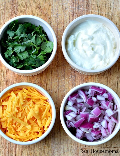 Slow Cooker Taco Chili_Toppings