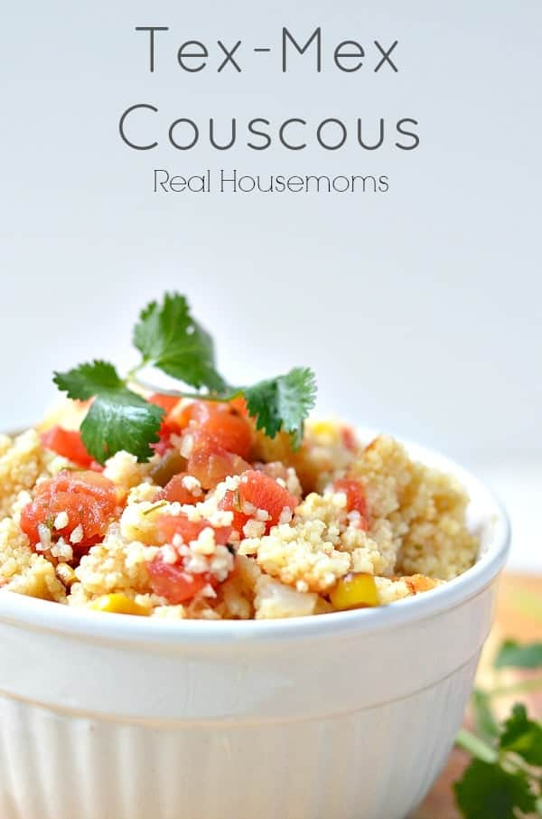 tex mex cous cous in a bowl