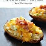 Bacon Jalapeno Popper Twice Baked Potatoes | Real Housemoms | #twicebaked #jalapenopopper #potatoes