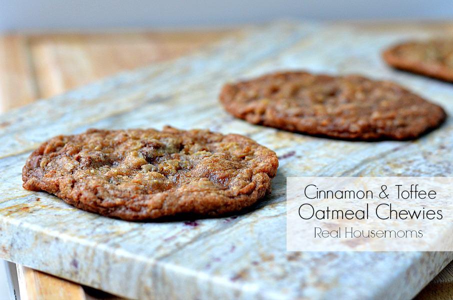 Cinnamon & Toffee Oatmeal Chewies ⋆ Real Housemoms
