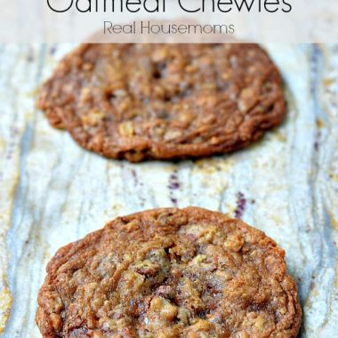 cinnamon and toffee oatmeal chewy cookies