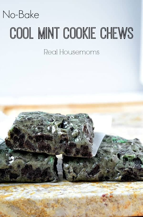 No-Bake Cool Mint Cookie Chews_Real Housemoms
