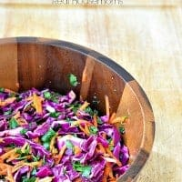 Red Cabbage Slaw Real Housemoms