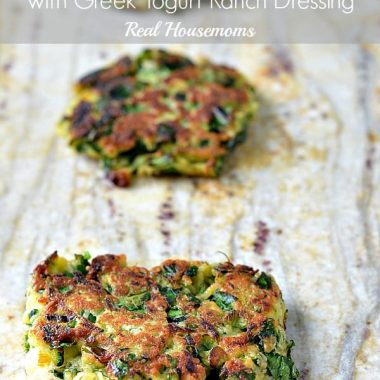 Zucchini Fritters with Greek Yogurt Ranch Dressing