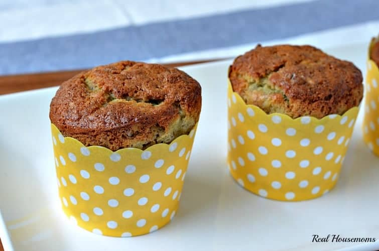 Banana Nut Muffin | Real Housemoms | #breakfast #muffin