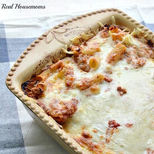 cheesy baked rigotoni