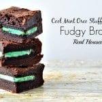 Cool Mint Oreo Stuffed Fudgy Brownies