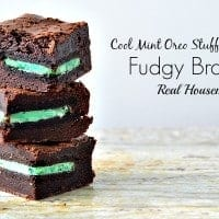 Cool Mint Oreo Stuffed Fudgy Brownies