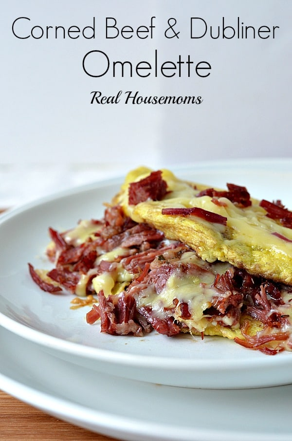 Corned Beef and Dubliner Omelette | Real Housemoms #breakfast #omelette #cornedbeef