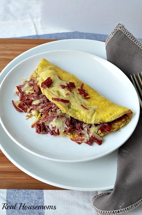 Corned Beef and dubliner omelette