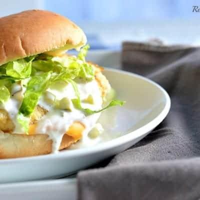 Fish Fillet Sandwich with Homemade Tartar Sauce