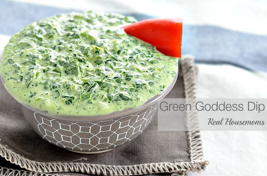 Green Goddess Dip - Real Housemoms