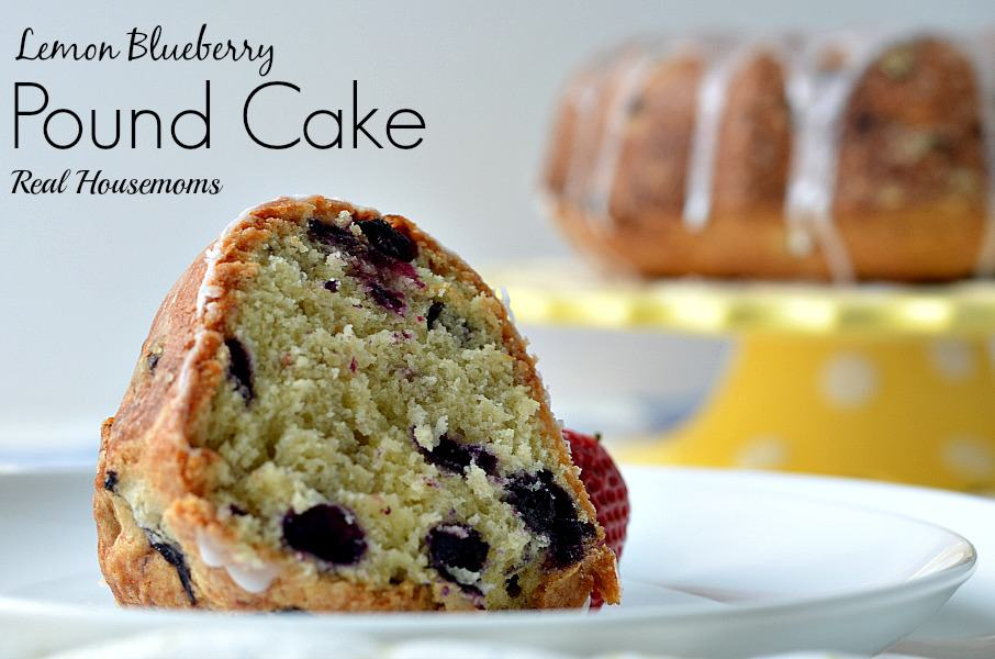Lemon Blueberry Pound Cake - Real Housemoms