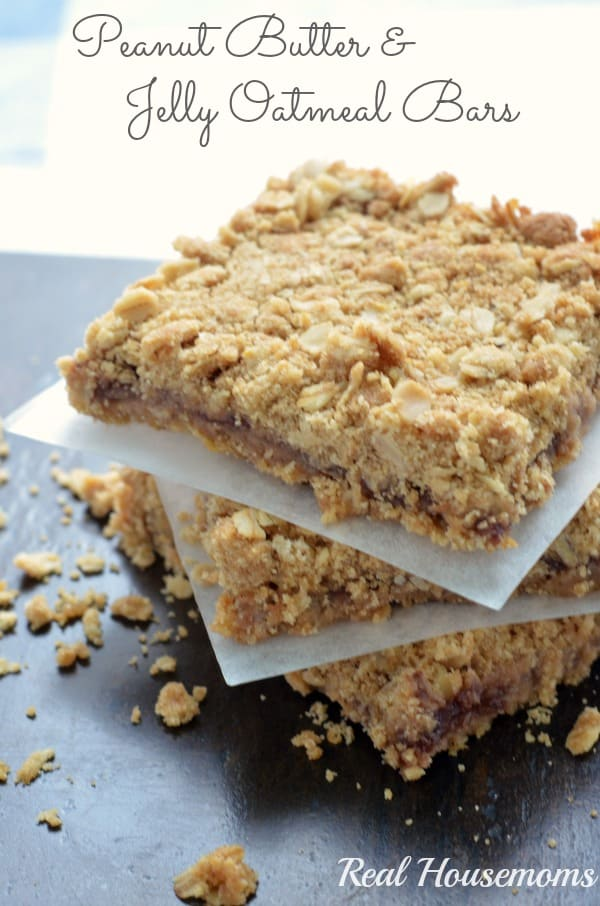Peanut Butter and Jelly Oatmeal Bars