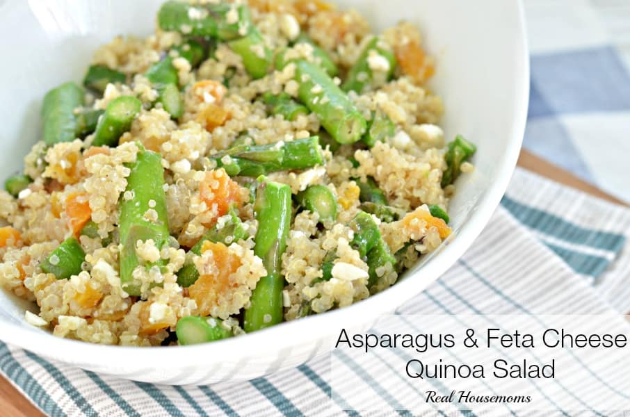 Asparagus and Feta Cheese Quinoa Salad ⋆ Real Housemoms