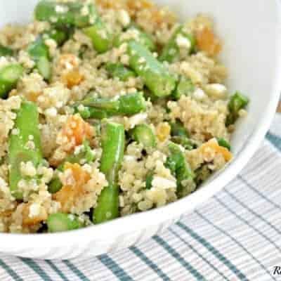 Asparagus and Feta Cheese Quinoa Salad