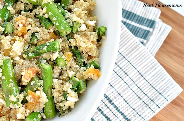 Asparagus and Feta Cheese Quinoa Salad | Real Housemoms