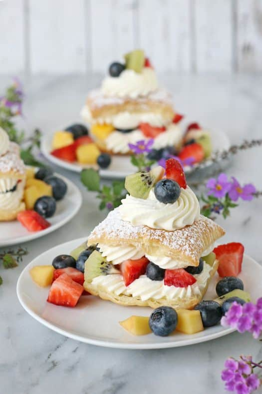 Lemon Cream Puffs with Fresh Fruit