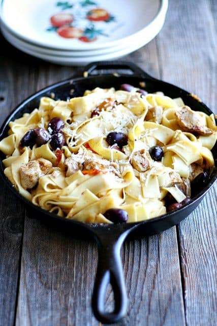 Mediterranean Pasta Skillet