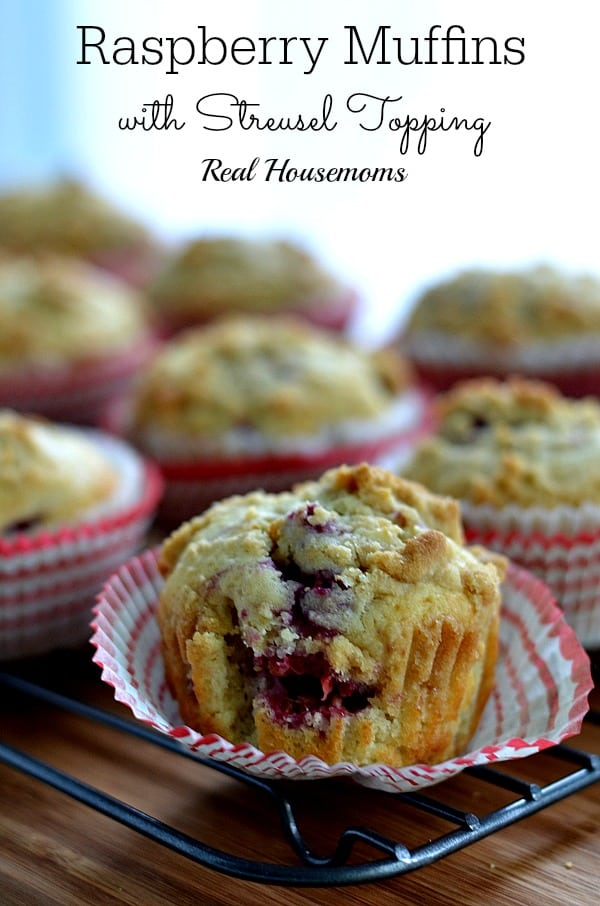 Raspberry Muffins with Streusel Topping_Real Housemoms