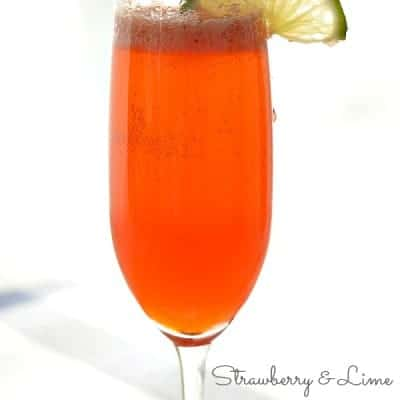 Strawberry and Lime Moscato Mimosa